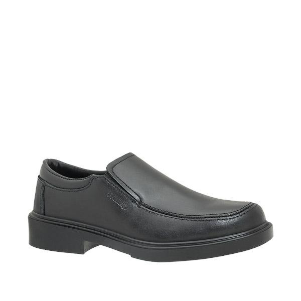81600 zapato trabajo mocasin elastico negro