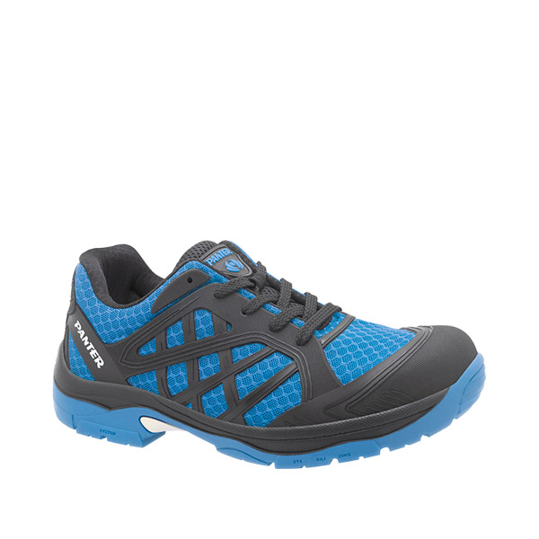 zapatilla deportiva seguridad panter argos flexible ligero azul