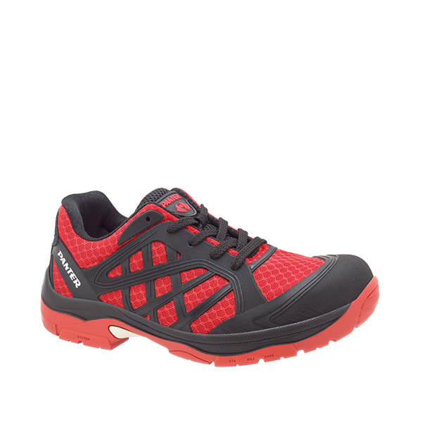zapatilla deportiva seguridad panter argos flexible ligero rojo