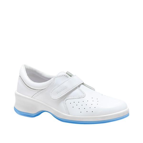 BOLERO calzado laboral mujer tacon blanco calado