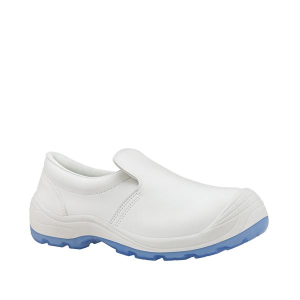 CANELA S2 zapato blanco antibacterias antideslizante puntera microfibra