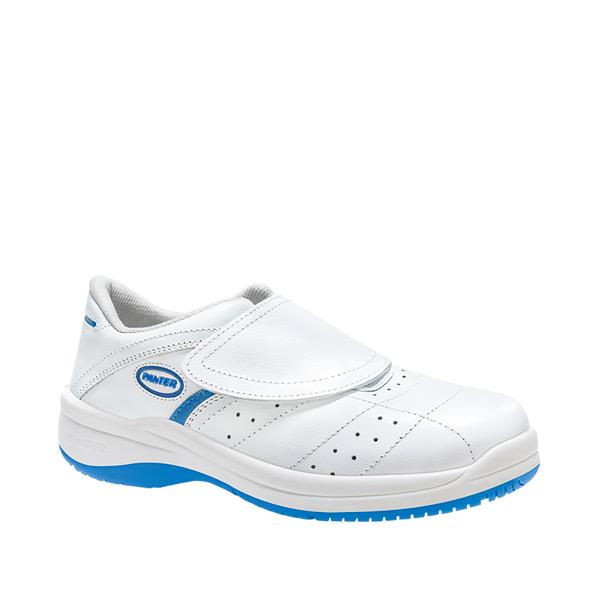 CLINIC O1 BLANCO ATMOSFERA PERFORADO zapato blanco antibacteriano velcro perforado