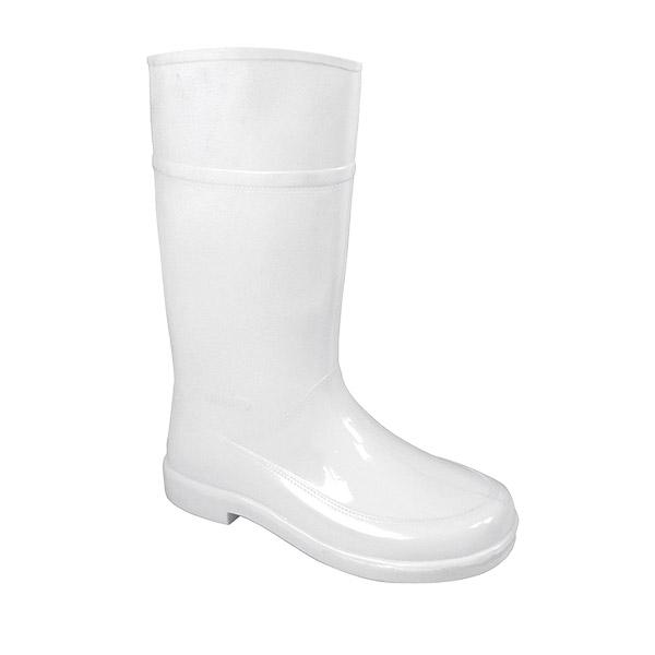 Charquera bota alta blanco antibacterias impermeable