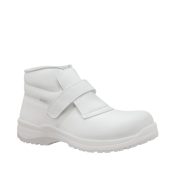 Merlot blanco s2 bota laboral blanca antibacterias velcro