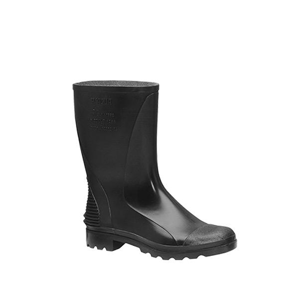 Monocolor Negra Baja bota agua impermeable