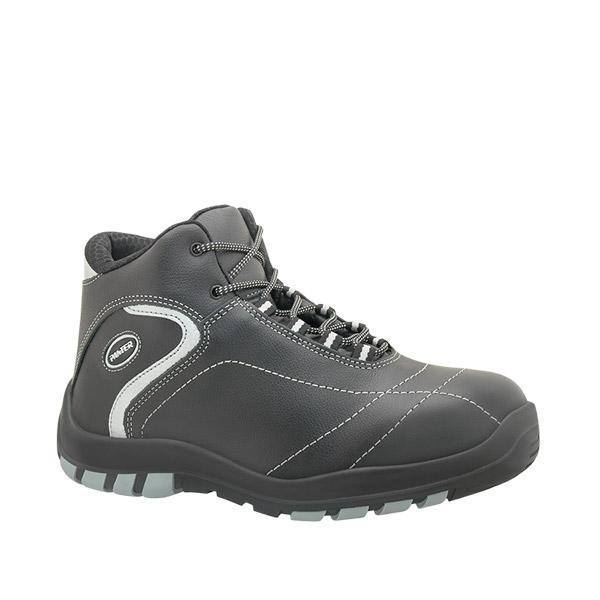 Monza negro s3 bota seguridad flexible piel negro