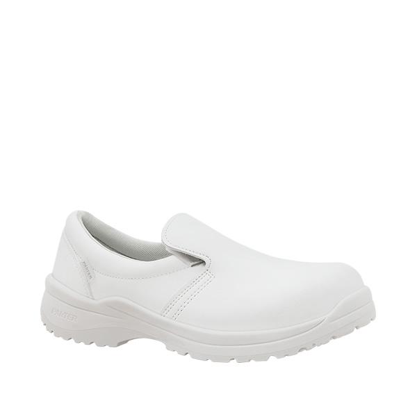 Zagros Blanco S2 calzado blanco mocasin antibacteriano velcro