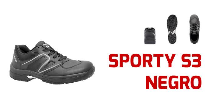 2e2812782f0 ¿Buscas calzado de seguridad con diseño deportivo para trabajar cómodo?  Hazte con las Sporty S3 Negro .